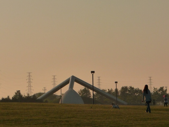 モエレ沼の夕方の景色2010531-1.jpg